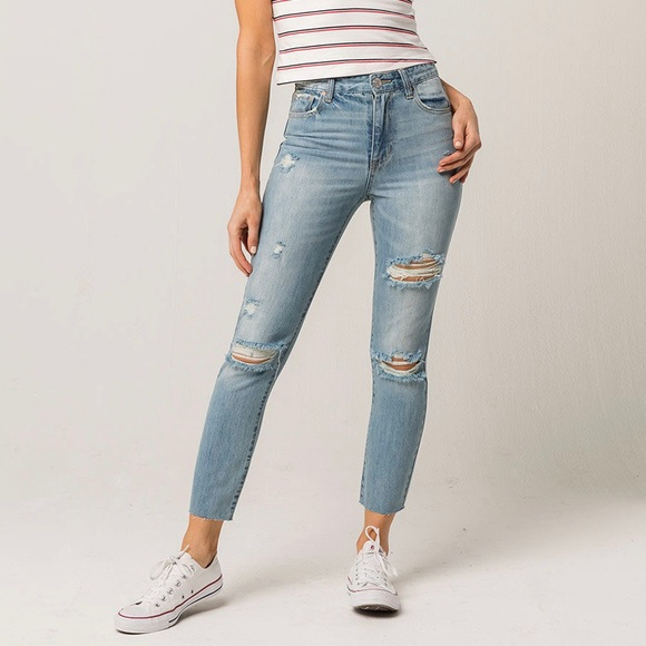 RSQ Denim - RSQ Ripped Mom Jeans